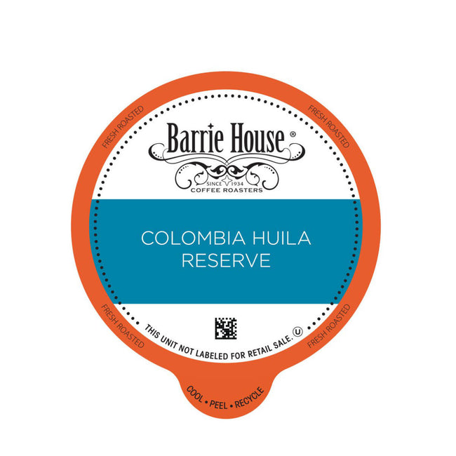 Barrie House Colombia Huila  Reserve Single-Serve Coffee Pods (Case of 96)