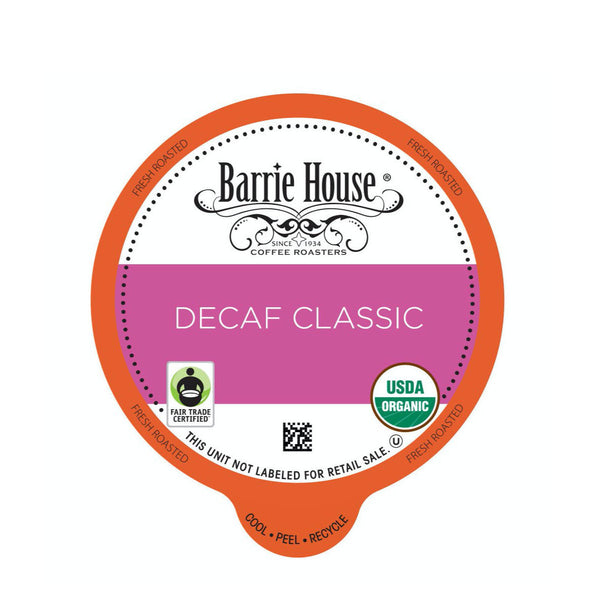 Barrie House Fair Trade Decaf Classic Single-Serve Coffee Pods (Box of 24)