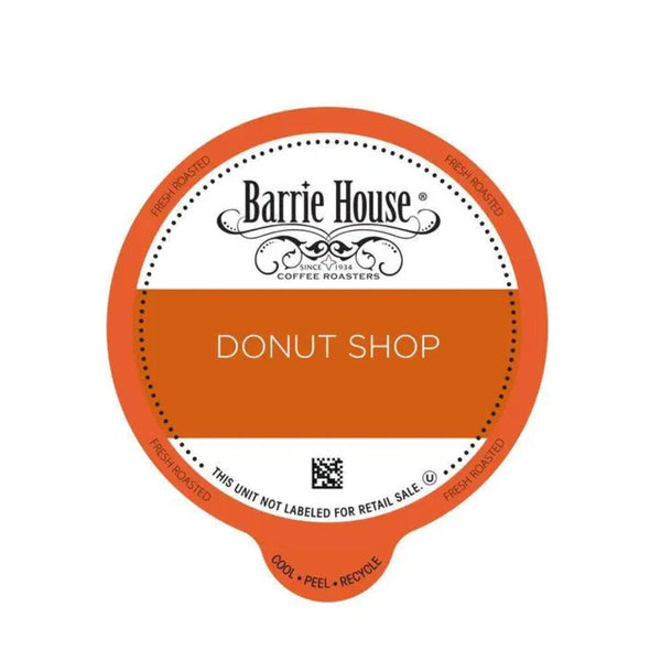 Barrie House Donut Shop Blend Single-Serve Coffee Pods (Box of 24)