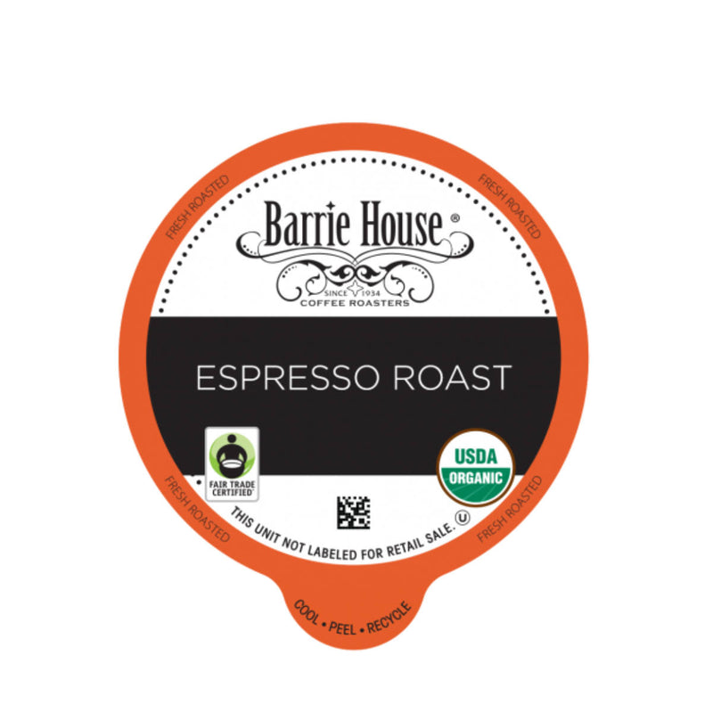 Barrie House Fair Trade Espresso Roast Single-Serve Coffee Pods (Case of 96)