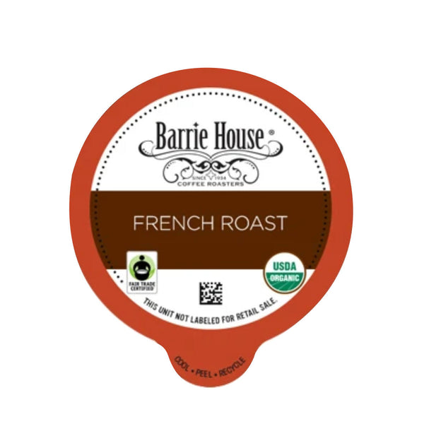 Barrie House Fair Trade French Roast Single-Serve Coffee Pods (Box of 24)