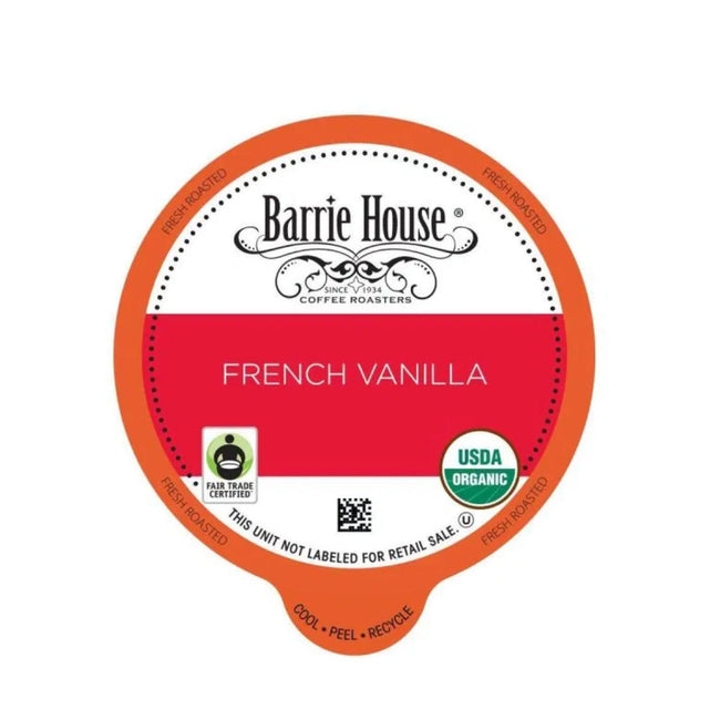 Barrie House French Vanilla Single-Serve Coffee Pods (Case of 96)