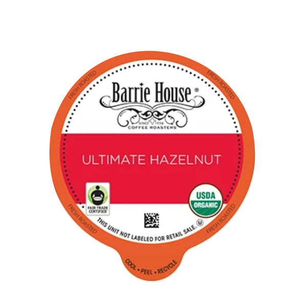 Barrie House Fair Trade Ultimate Hazelnut Single-Serve Coffee Pods (Box of 24)