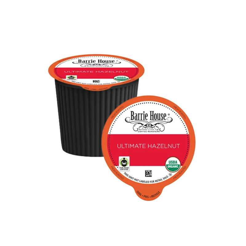 Barrie House Fair Trade Ultimate Hazelnut Single-Serve Coffee Pods (Case of 96)