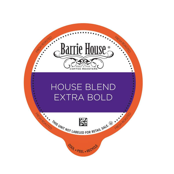 Barrie House House Blend Extra Bold Single-Serve Coffee Pods (Case of 96)