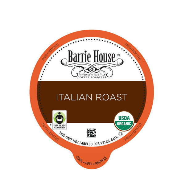 Barrie House Italian Roast Single-Serve Coffee Pods (Box of 24)