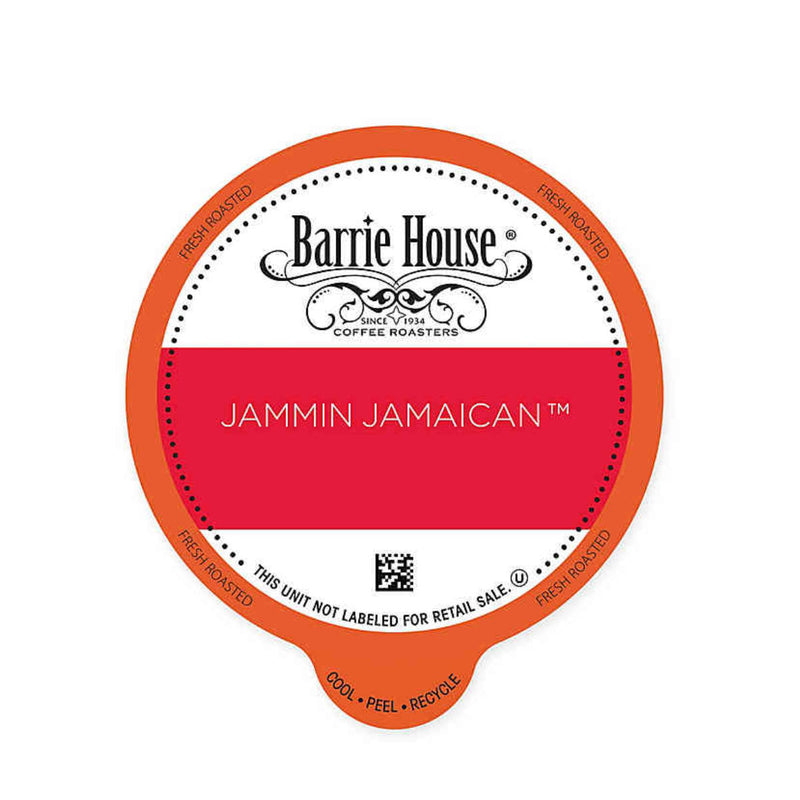 Barrie House Fair Trade Jammin Jamaican Single-Serve Coffee Pods (Case of 96)