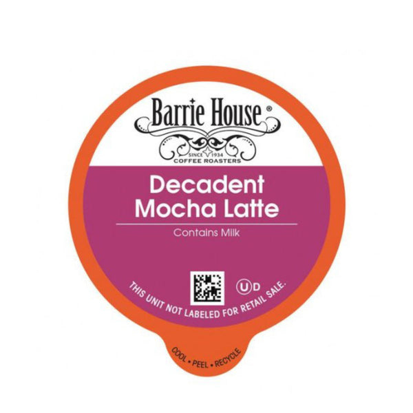 Barrie House Decadent Mocha Latte Single-Serve Coffee Pods (Case of 96)