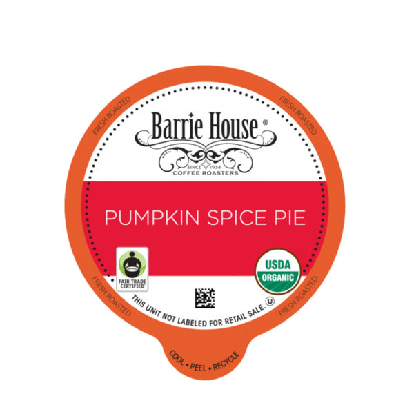Barrie House Fair Trade Pumpkin Spice Latte Single-Serve Coffee Pods (Box of 24)