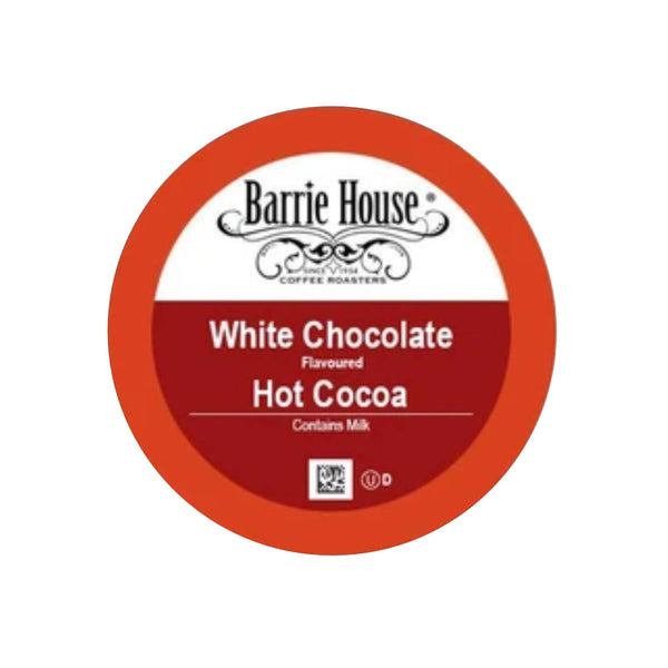 Barrie House White Chocolate Hot Cocoa Single-Serve Pods (Case of 96)