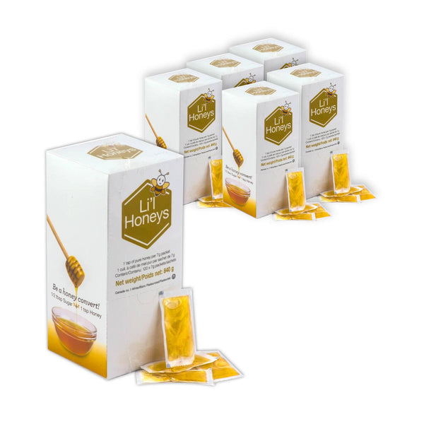Bee Maid Lil' Honey Packets 6 Boxes Bulk Value Pack (720 x 7g )