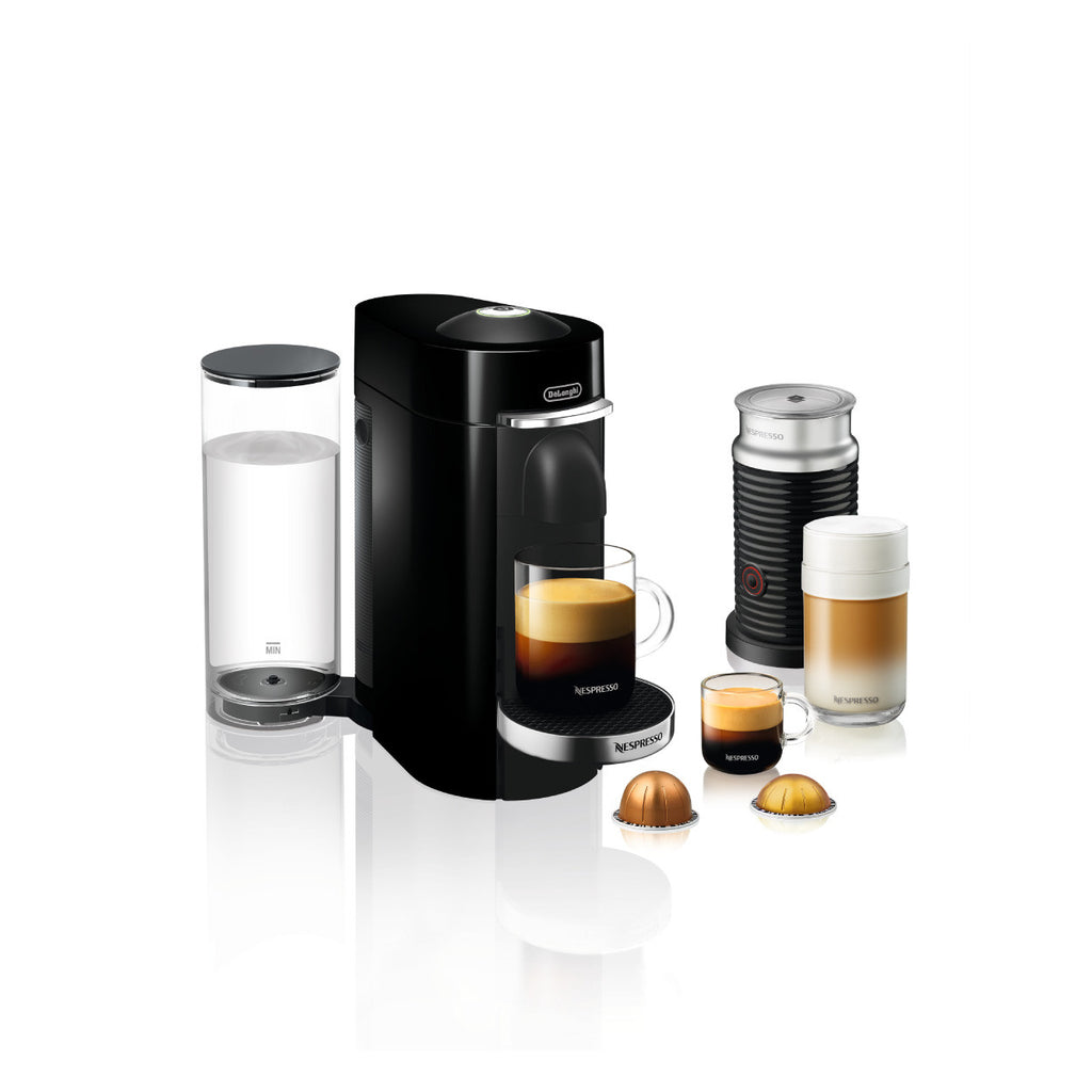 Nespresso by DeLonghi VertuoPlus Deluxe With Aeroccino 3 in Black