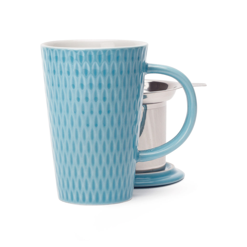 DAVIDsTEA Sky Blue Seed Textured Perfect Mug