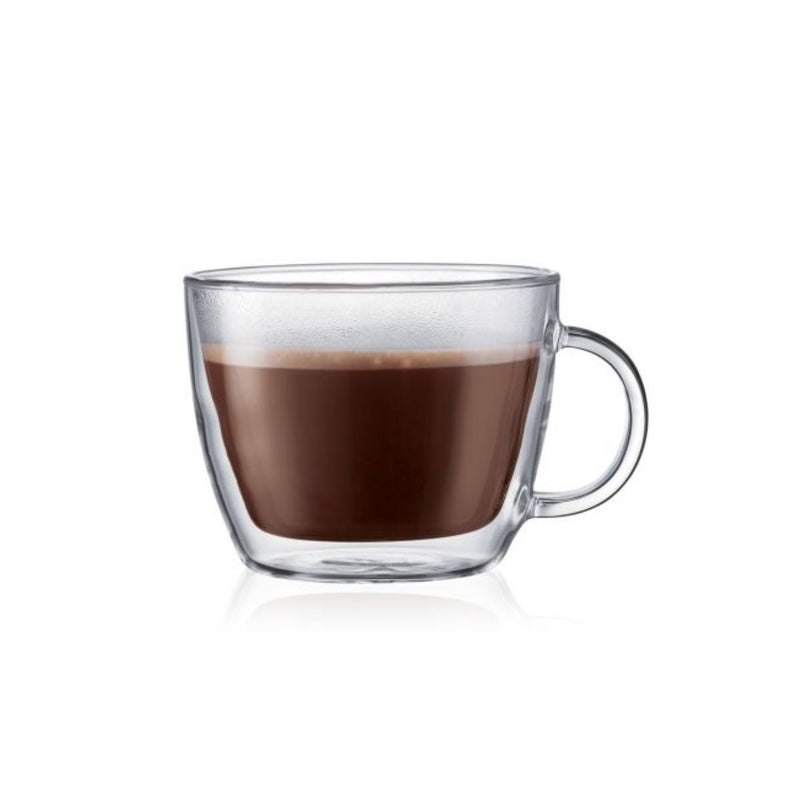Bodum Bistro Large 15oz Double Walled Espresso Mug Large (Set of 2)