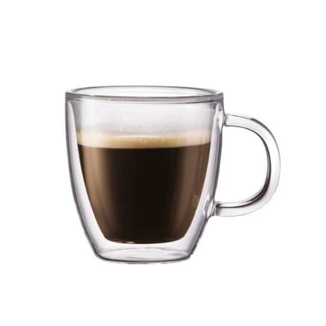 Bodum Bistro Small 5oz Double Walled Espresso Mug (Set of 2)