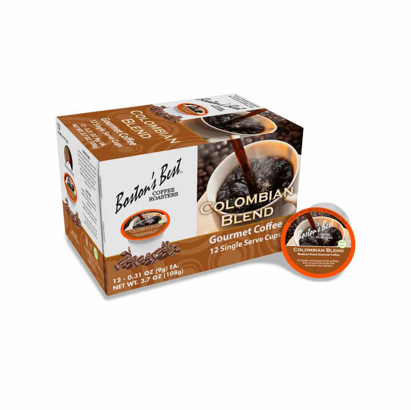 Boston's Best Colombian Blend Single-Serve Coffee Pods (Box of 12)