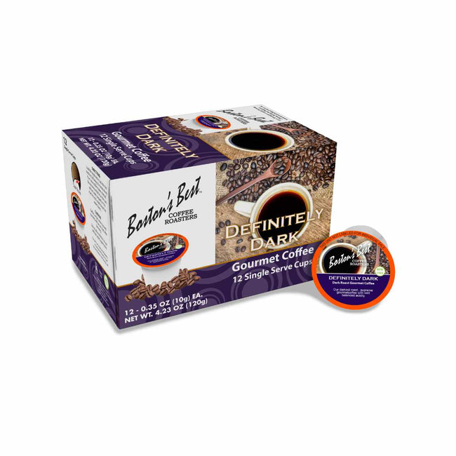 Boston's Best Definitely Dark Single-Serve Coffee Pods (Box of 12)