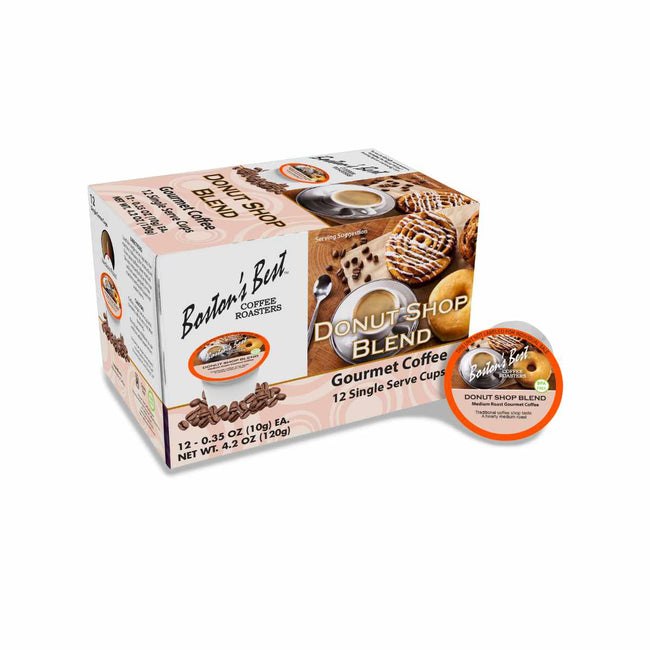 Boston's Best Donut Shop Blend Single-Serve Coffee Pods (Case of 72)