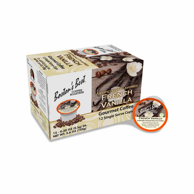 Boston's Best French Vanilla Single-Serve Coffee Pods (Box of 12)