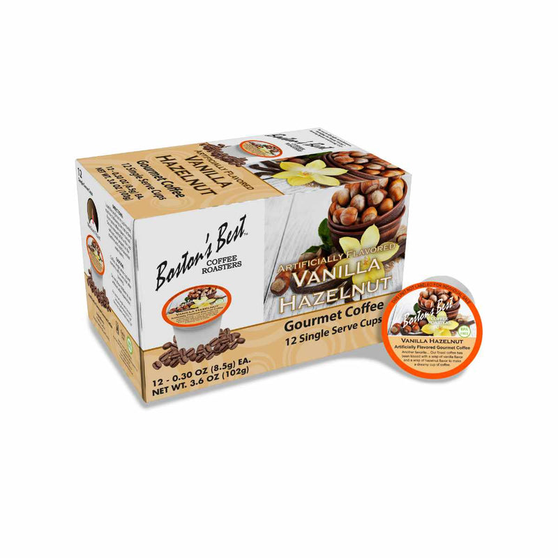 Boston's Best Vanilla Hazelnut Single-Serve Coffee Pods (Box of 12)