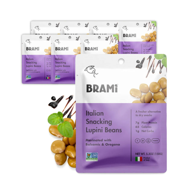 Brami Balsamic & Oregano Lupini Beans 150g / 5.3oz (Case of 8 Bags)