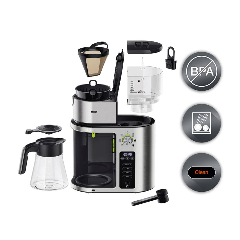 Braun MultiServe Golden Cup Drip Coffee Maker (KF9070 / Stainless Steel)