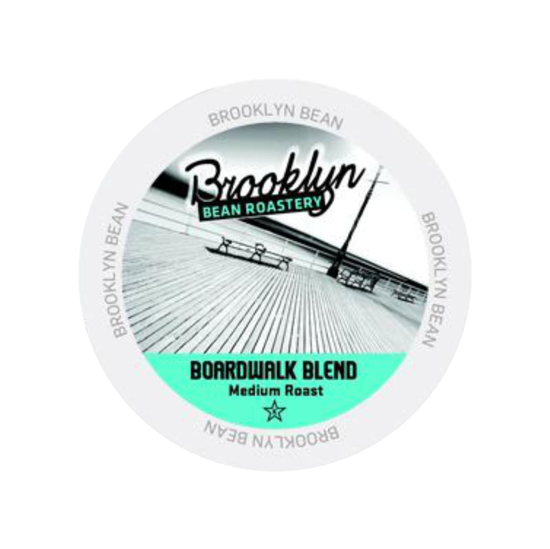 Brooklyn Bean Boardwalk Blend Extra Bold Single-Serve Coffee Pods (Case of 96)