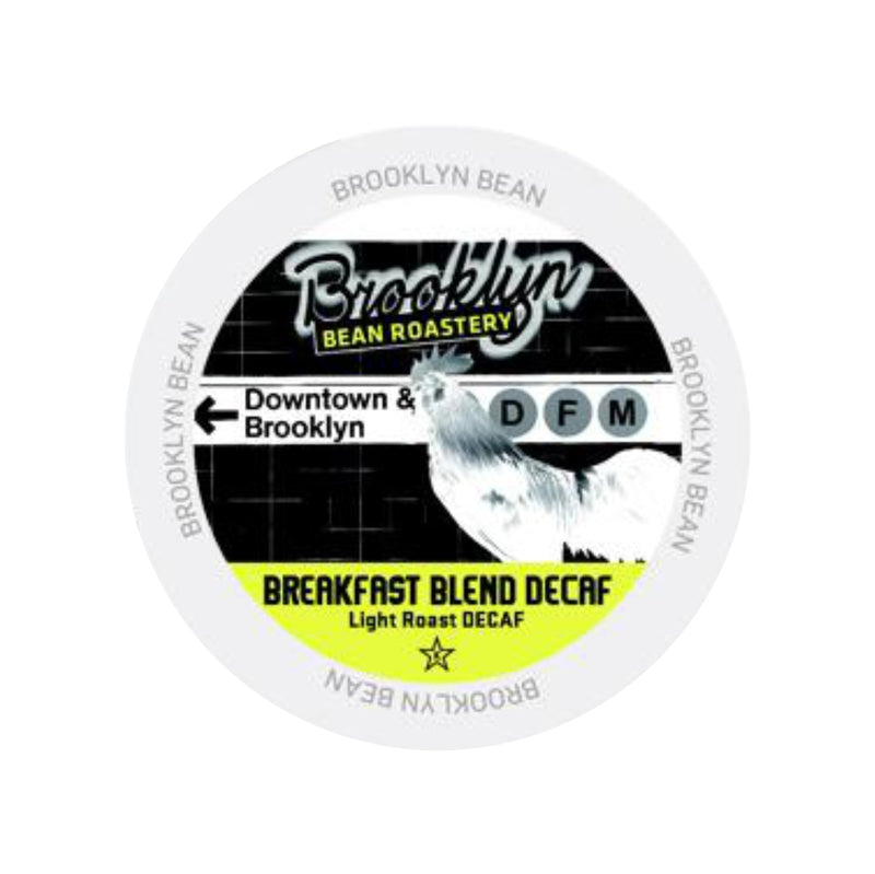 Brooklyn Bean Breakfast Blend Decaf Single-Serve Coffee Pods (Box of 24)