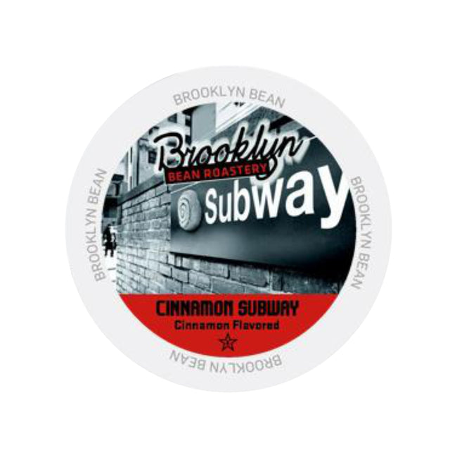 Brooklyn Bean Cinnamon Subway Single-Serve Coffee Pods (Case of 96)