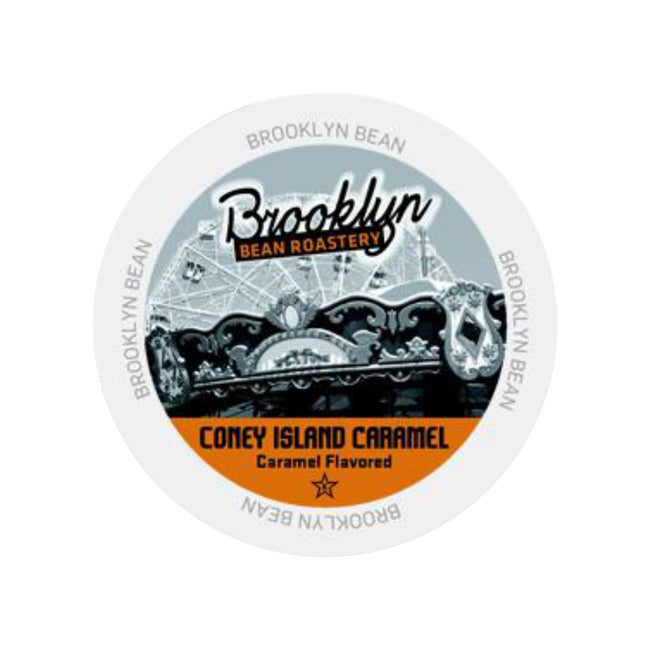 Brooklyn Bean Coney Island Caramel Single-Serve Coffee Pods (Box of 24)