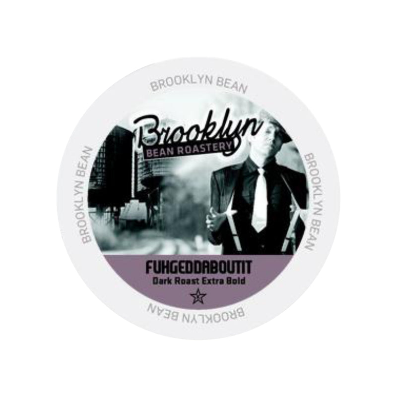 Brooklyn Bean Fuhgeddaboutit Extra Bold Single-Serve Coffee Pods (Case of 96)