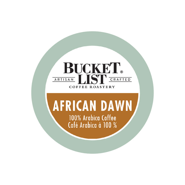 Bucket List Coffee African Dawn Single Serve Pods (Case of 96)