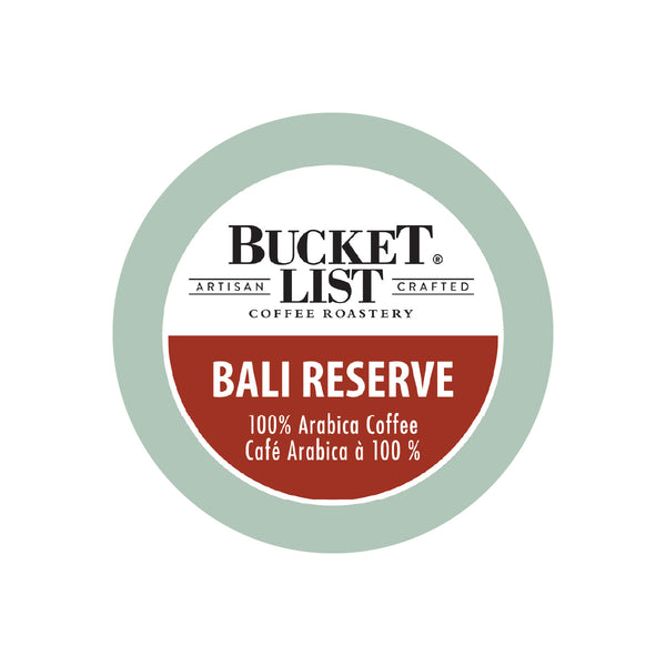 Bucket List Coffee Bali Reserve Single Serve Pods (Box of 24)