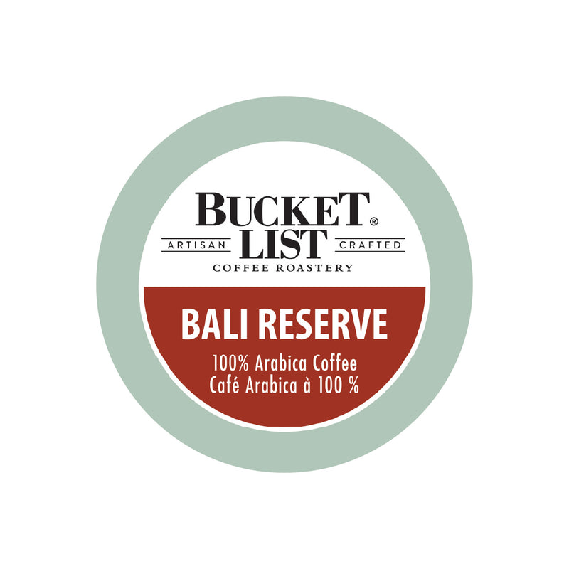Bucket List Coffee Bali Reserve Single Serve Pods (Case of 96)