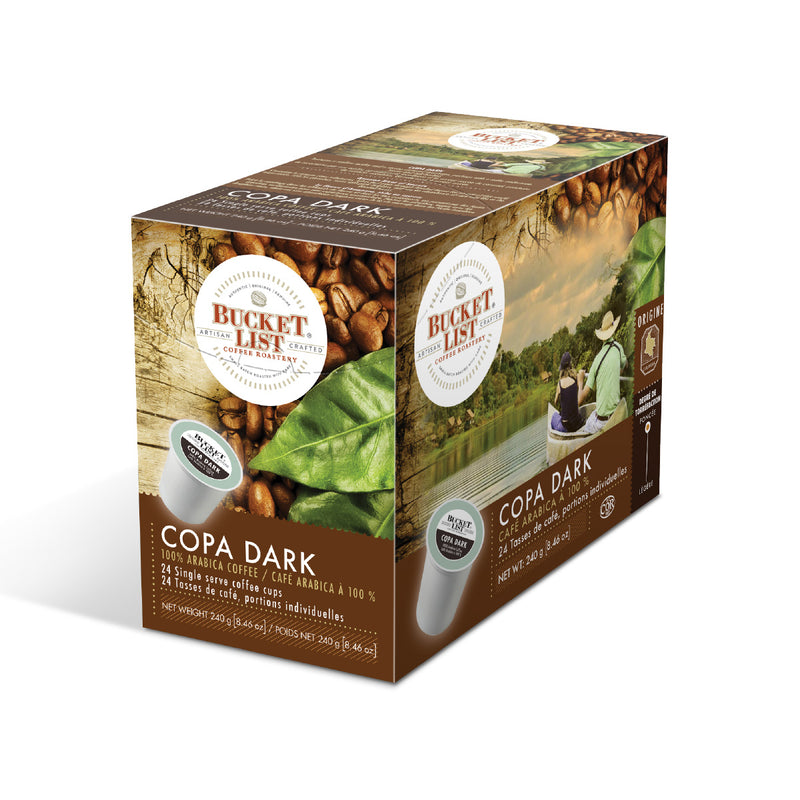 Bucket List Coffee Copa Dark Single Serve Pods (Box of 24)