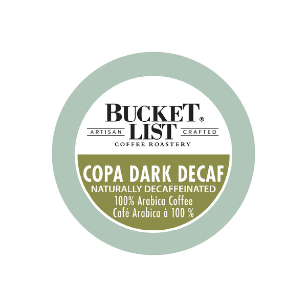 Bucket List Coffee Copa Dark Decaf Single Serve Pods (Box of 24)