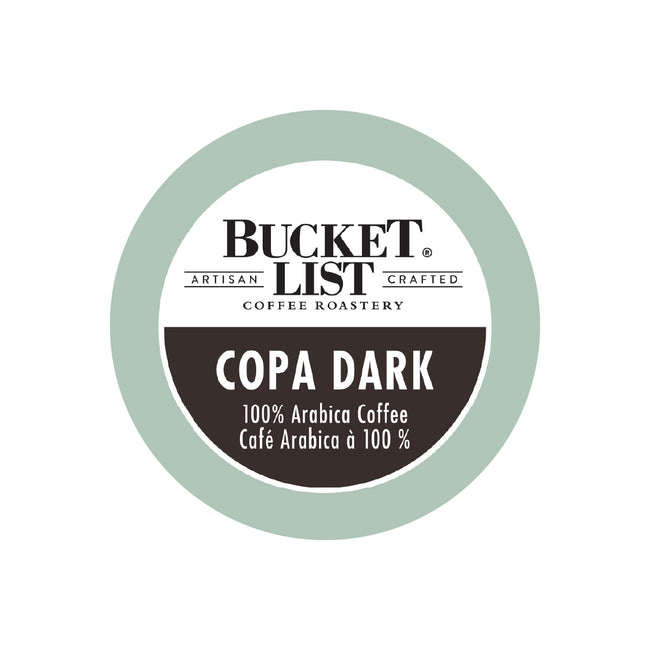 Bucket List Coffee Copa Dark Single Serve Pods (Case of 96)
