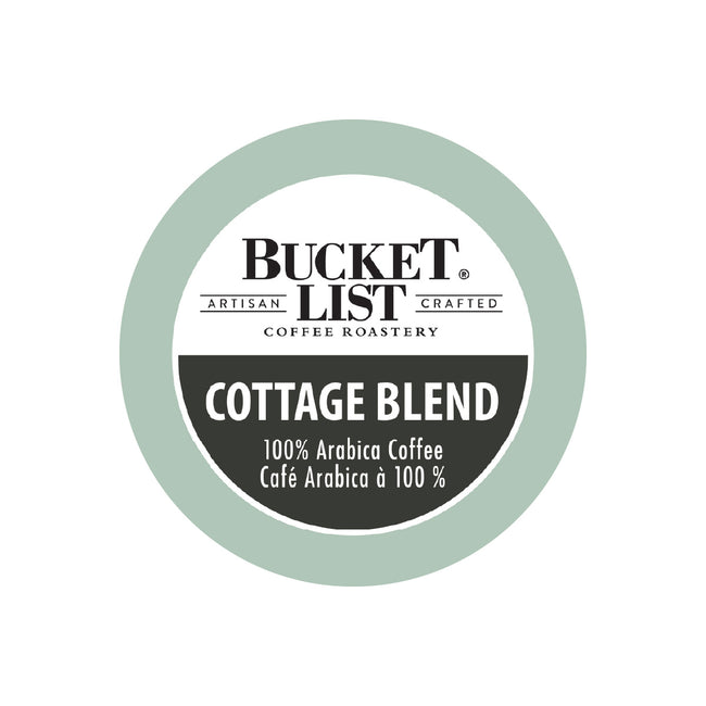 Bucket List Coffee Cottage Blend Single Serve Pods (Box of 24)