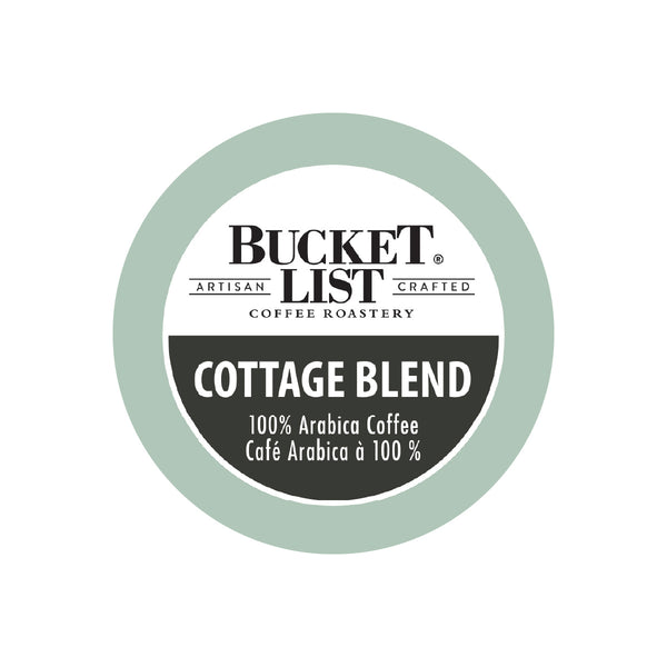 Bucket List Coffee Cottage Blend Single Serve Pods (Case of 96)