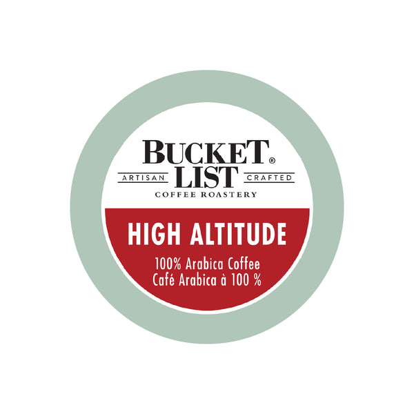 Bucket List Coffee High Altitude Single Serve Pods (Case of 96)