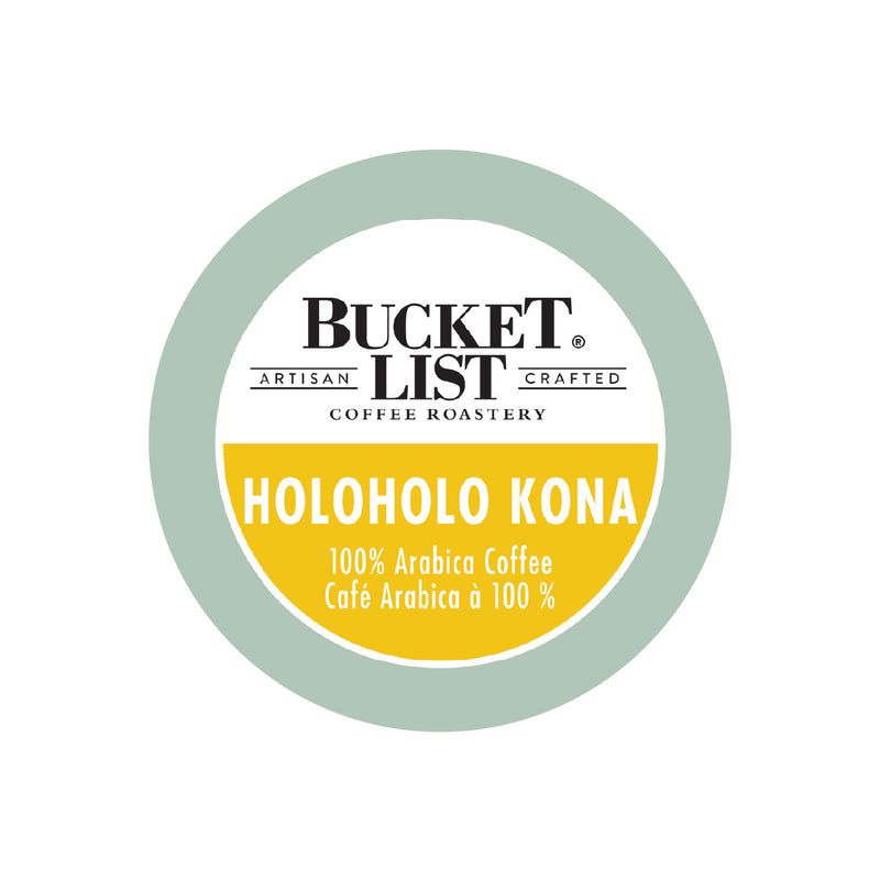 Bucket List Coffee Holoholo Kona Single Serve Pods (Case of 96)