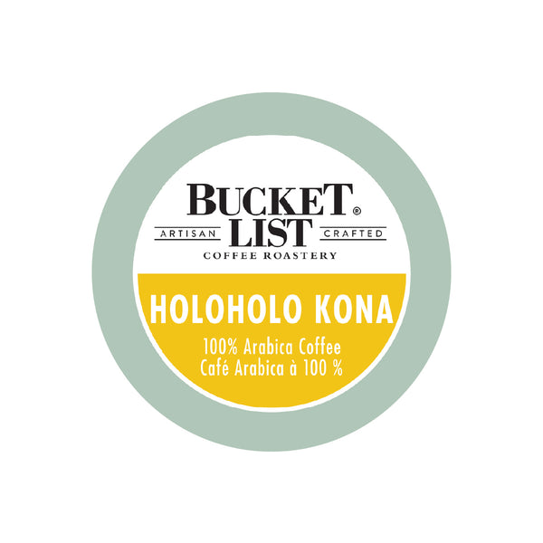 Bucket List Coffee Holoholo Kona Single Serve Pods (Box of 24)