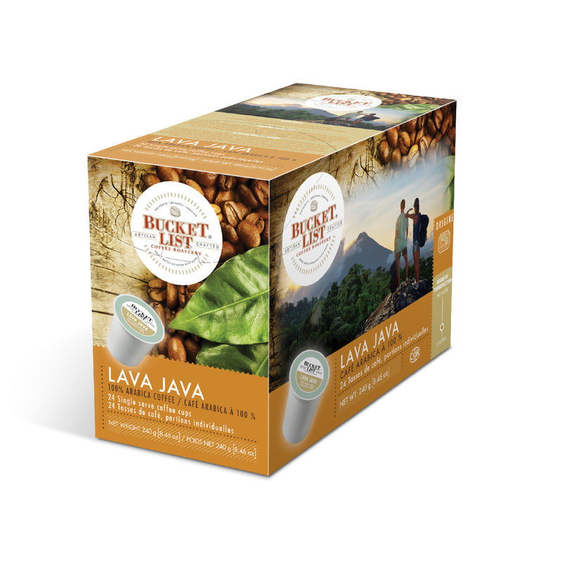Bucket List Coffee Lava Java Single Serve Pods (Case of 96)