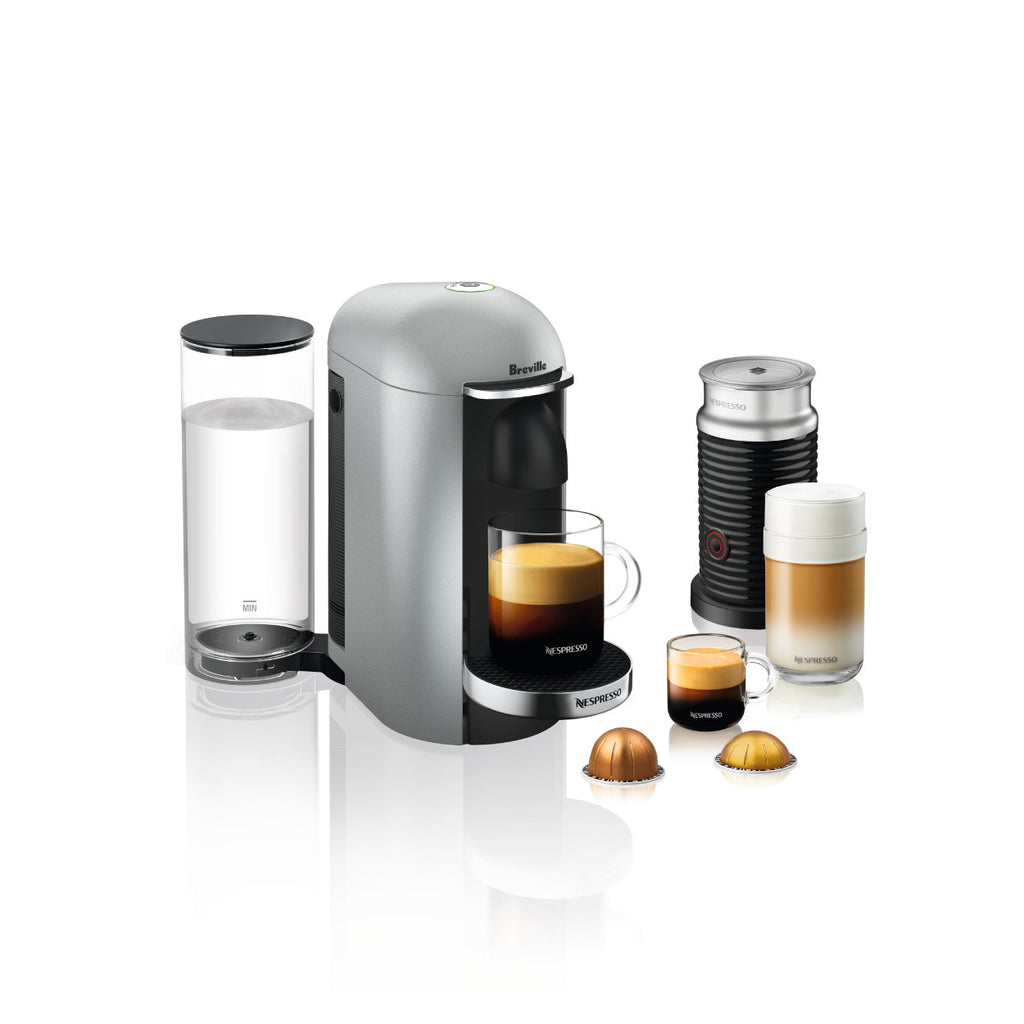 * OFFER * Nespresso by Breville VertuoPlus Deluxe with Aerroccino 3 in Silver
