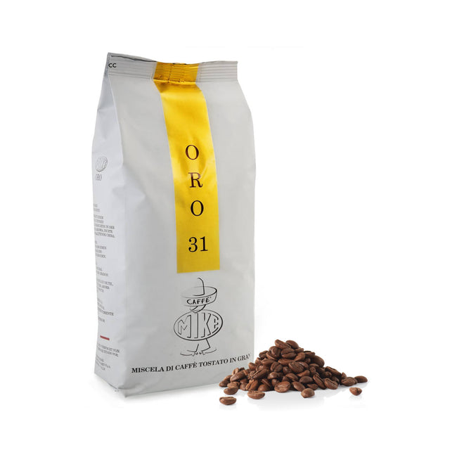 Caffe Mike Oro 31 Espresso (1kg / 2.2lbs Bag of Whole Bean Coffee)