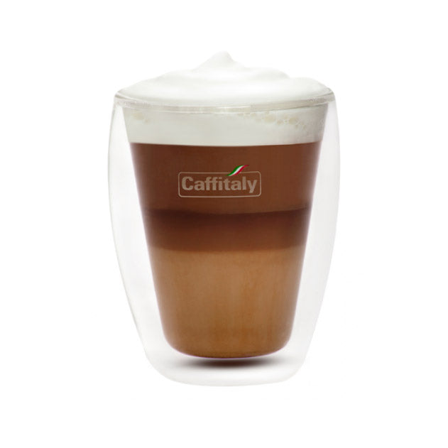 Caffitaly Double Wall Cappuccino Glass Cups (Set of 2)
