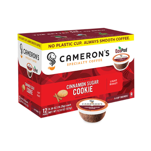 Cameron's Cinnamon Sugar Cookie Single-Serve Eco Coffee Pods (Box of 12)