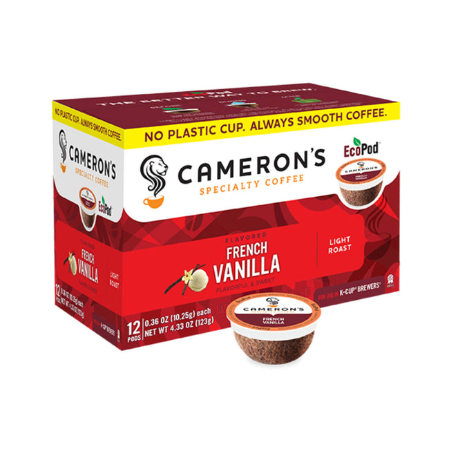 Cameron's French Vanilla Single-Serve Eco Coffee Pods (Box of 12)