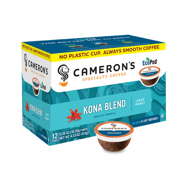 Cameron's Kona Blend Single-Serve Eco Coffee Pods (Box of 12)