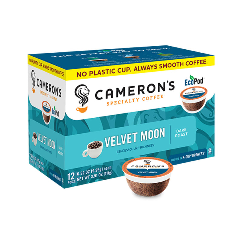 Cameron's Velvet Moon Single-Serve Eco Coffee Pods (Box of 12)